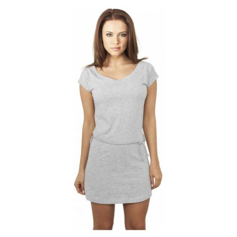 Urban Classics Ladies Slub Jersey Dress grey