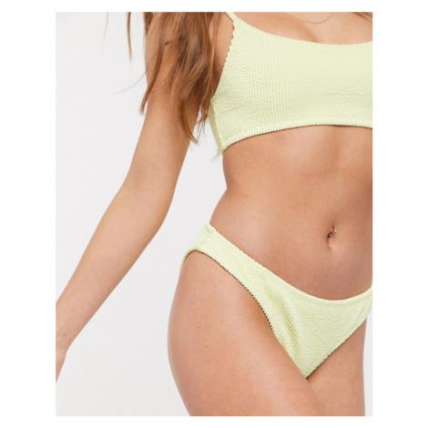 Sunny Structured Swim Bottom-Yellow Weekday