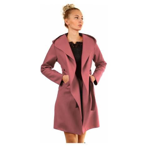 Delší dámský kabát s kapucí