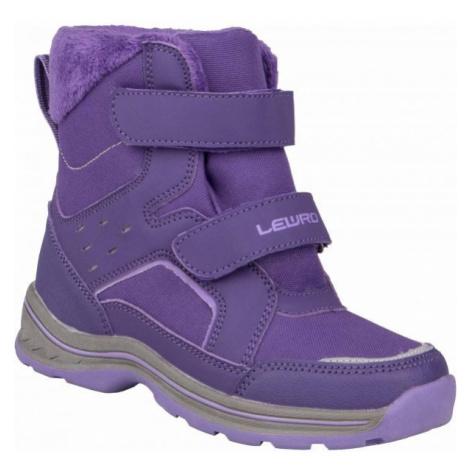 Lewro CRONUS fialová - Dětská zimní obuv