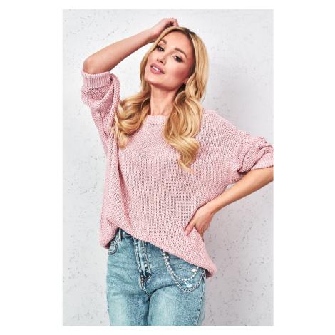 Oversize svetr 5861 růžový