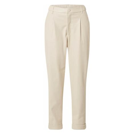 Freequent Kalhoty se sklady v pase béžová