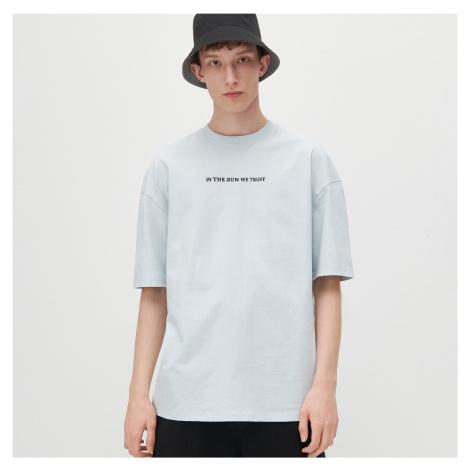 Reserved - Tričko oversize s potiskem - Modrá