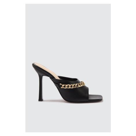 Trendyol Black Pointed Toe Women's Slippers