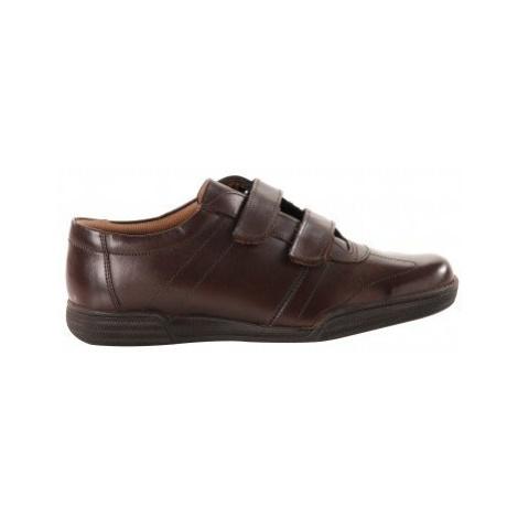 Blancheporte Vycházkové boty z kůže kaštanová