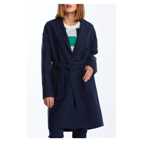 KABÁT GANT D1. FLUID LINEN BLEND BELTED COAT