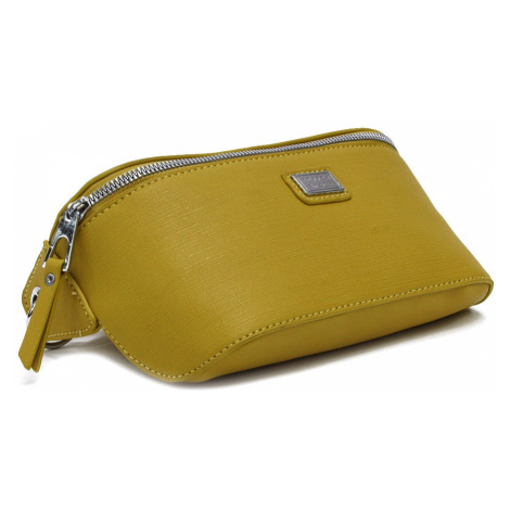 Žlutá dámská společenská mini kabelka ledvinka Selah Mahel