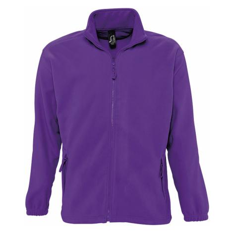 SOĽS Pánská fleecová mikina NORTH 55000712 Dark purple SOL'S