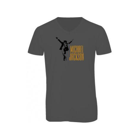 Pánské triko s výstřihem do V Michael Jackson