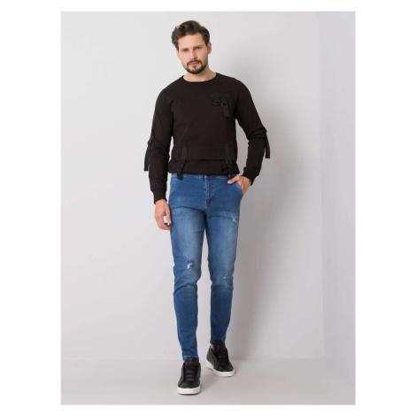 LIWALI Modré roztrhané džíny pro muže FPrice