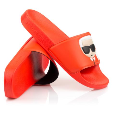 Pantofle Karl Lagerfeld Kondo Ii Ikonic Slide - Oranžová
