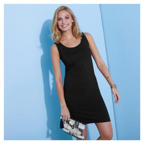 Blancheporte Jednobarevné šaty černá