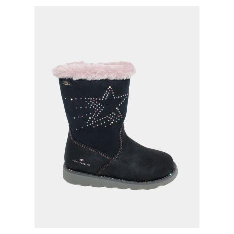 Tmavě modré holčičí zimní boty Tom Tailor