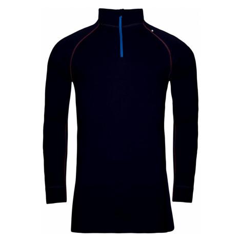 ALPINE PRO GENET 2 Pánské spodní triko s dlouhým rukávem - merino MUNP039602 mood indigo