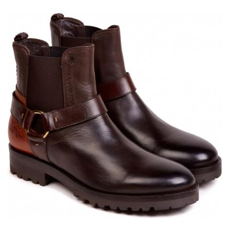 Kotníková Obuv La Martina Woman Boots Ohio Calf Leather - Hnědá