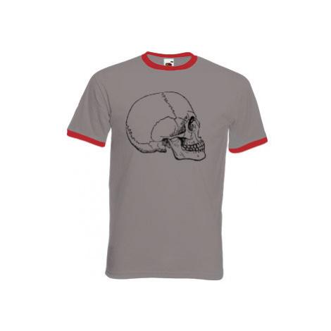 Pánské tričko s kontrastními lemy Lidská lebka