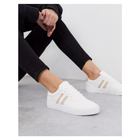 London Rebel lace up trainers-White