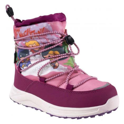 Warner Bros CHILLIN růžová - Dětská zimní obuv