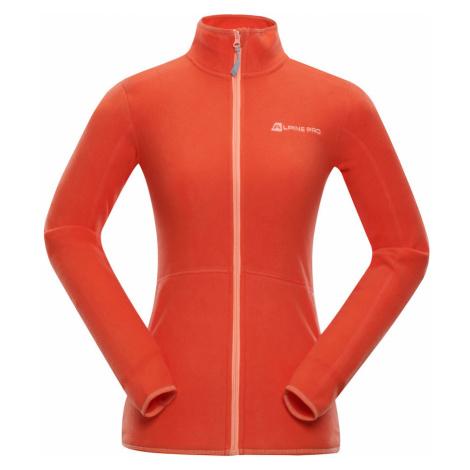 ALPINE PRO CASSIUSA 3 Dámská fleece mikina LSWN175339 tmavě oranžová
