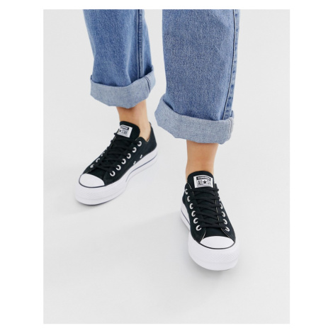 Converse Chuck Taylor Ox platform black trainers