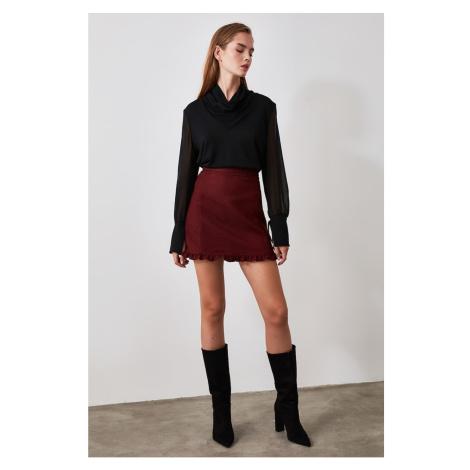 Trendyol Burgundy Frilled Skirt