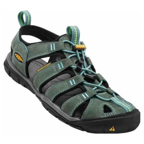 Dámské sandály Keen Clearwater CNX Leather W mineral blue/yellow UK