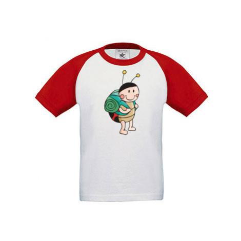 Dětské tričko baseball Beruška cestovatelka