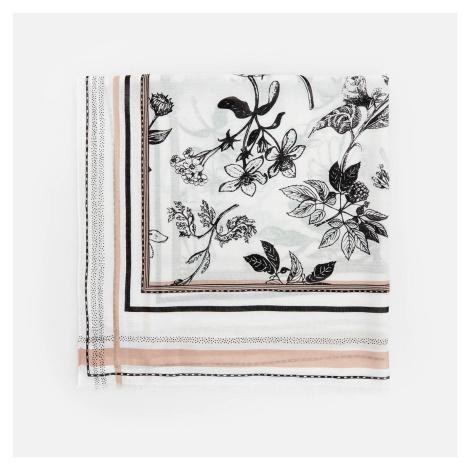 Reserved - Šála s květinovým vzorem - Béžová