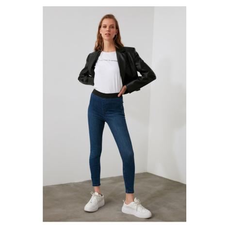 Trendyol High Waist Jegging Jeans WITH Blue Waist Elastics