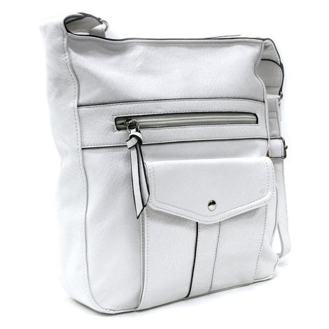Bílá dámská módní zipová kabelka Diahann Tapple