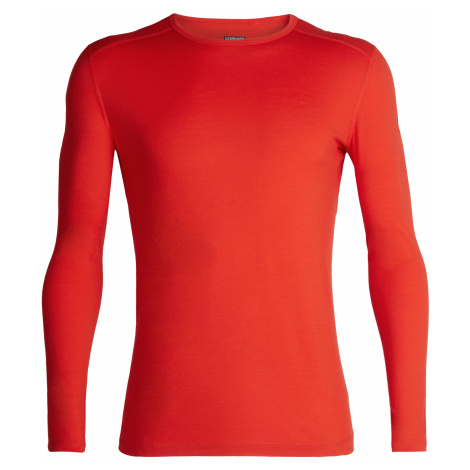 Pánské triko ICEBREAKER Mens 200 Oasis LS Crewe, CHILI RED Icebreaker Merino