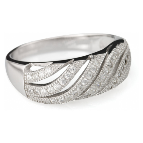Linda's Jewelry Stříbrný prsten Elegance Vlnka IPR031 Velikost: 56