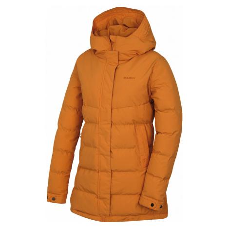 Husky Nilit L, tl. oranžová Dámský hardshell plněný kabátek