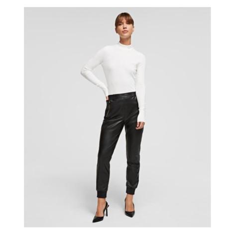 Kalhoty Karl Lagerfeld Faux Leather Joggers - Černá