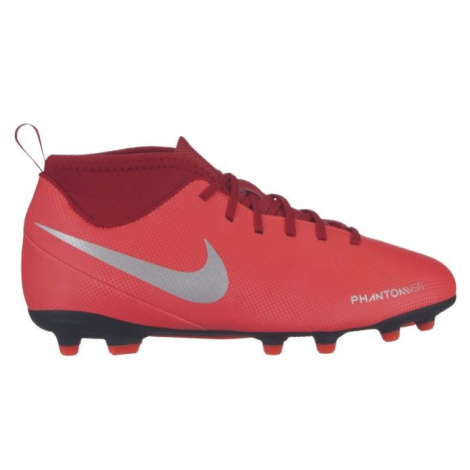Nike JR PHANTOM VISION CLUB DYNAMIC FIT FG červená - Dětské lisovky