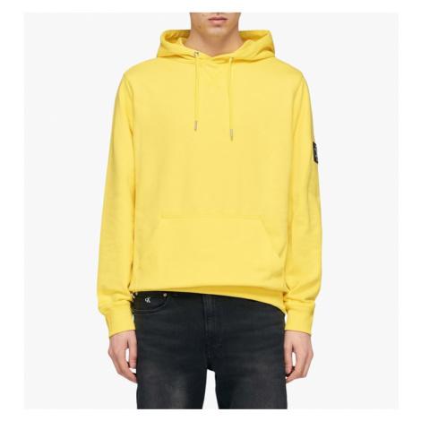 Calvin Klein Calvin Klein pánská žlutá mikina Monogram Sleeve Badge Hoodie