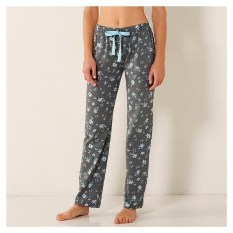 Blancheporte Pyžamové kalhoty s motivem motýlů, bavlna khaki