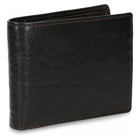 Tmavě hnědá pánská kožená peněženka Baťa