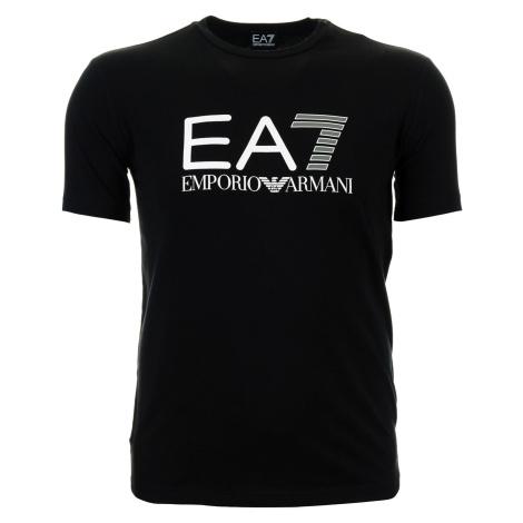 Pánské černé tričko s plastickým potiskem Emporio Armani