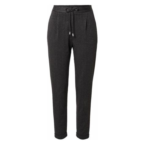 ESPRIT Kalhoty se sklady v pase tmavě šedá / světle šedá