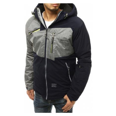 Dstreet Zajímavá zimní bunda v granátové barvě