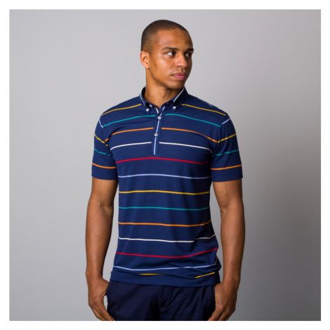 Pánské polo tričko modré s pruhovaným vzorem 12846 Willsoor