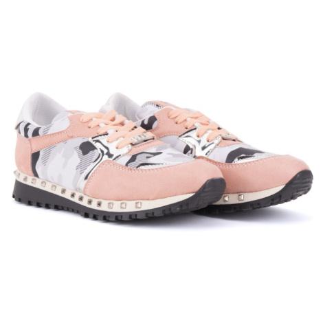 Růžovobílé dámské tenisky Miemi