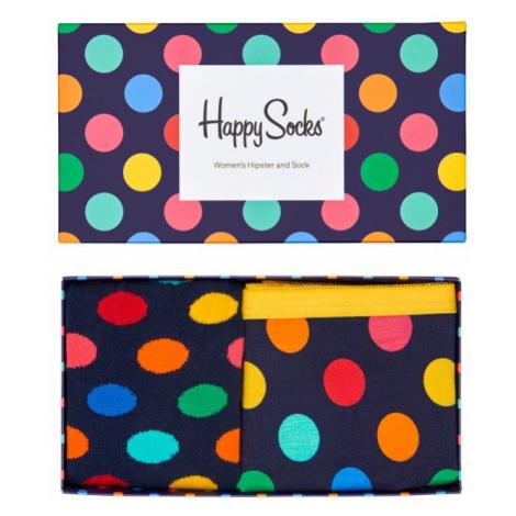 Dárková krabička Happy Socks Combo box Big Dot Blue, dámská