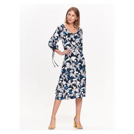 Top Secret šaty dámské dlouhé MIDI s květinovým vzorem a 3/4 rukávem