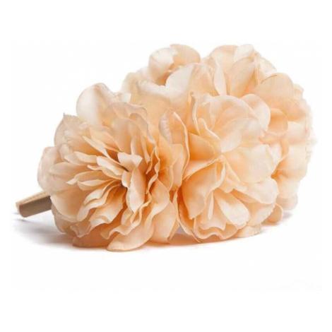Béžová čelenka s květinami Florisse