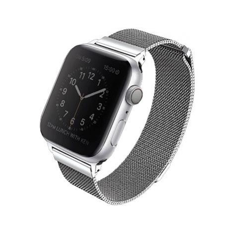 Uniq Dante pro Apple Watch 44mm Sterling stříbrný