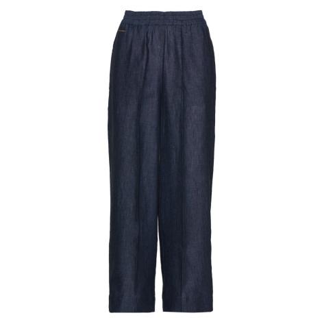 Kalhoty La Martina Woman Linen Pant - Modrá