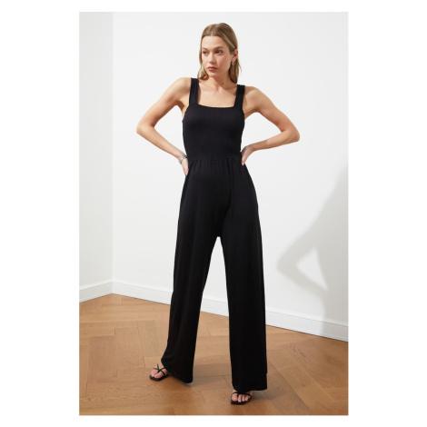 Trendyol Black Gipel Knitted Jumpsuit