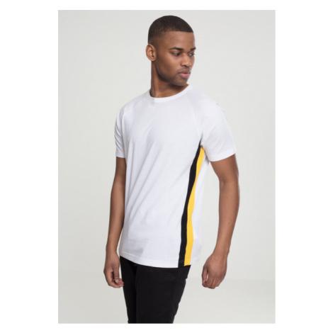 Urban Classics Raglan Side Stripe Tee white/black/yellow